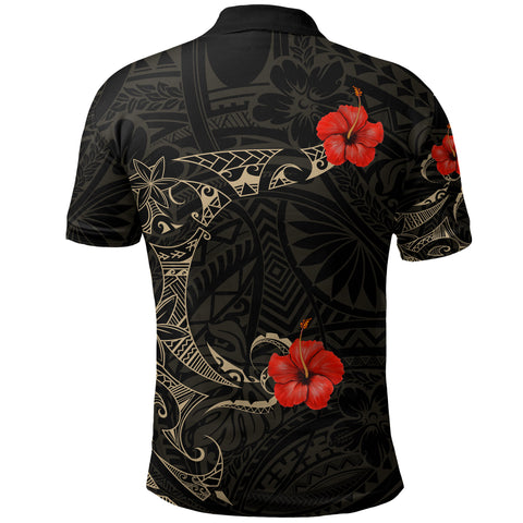 Image of Polynesian Hibiscus Polo Shirt Tattoo Style A7