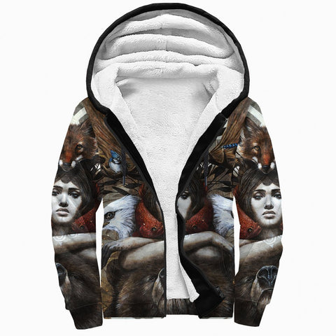 1stCanada Special Vintage Art Sherpa Hoodie | Premium Quality | Fast Shipping