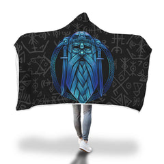 Viking Hooded Blanket - Viking Oden Hooded Blanket H7