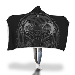 Viking Hooded Blanket - Viking Hati And Skoll Hooded Blanket H7