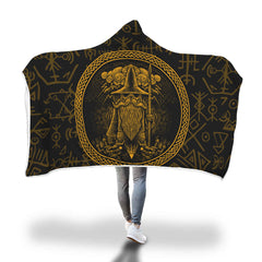 Viking Hooded Blanket - Viking Witch Hooded Blanket H7