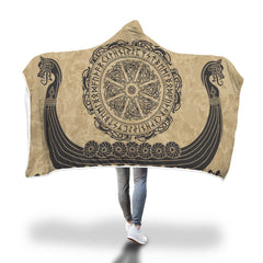 Viking Hooded Blanket - Viking Drakkar Hooded Blanket H7