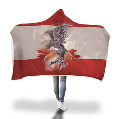 Austria Hooded Blanket - Austria Eagle Hooded Blanket H21