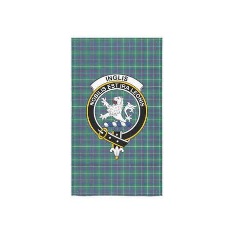 Inglis Ancient Tartan Towel Clan Badge NN5