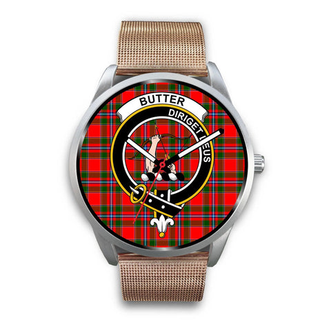 Image of Butter Clan Badge Tartan Leather/Steel Watch - Silver - Bn08