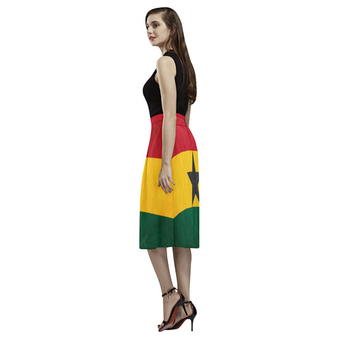 Image of GHANA FLAG AOEDE CREPE SKIRT A1