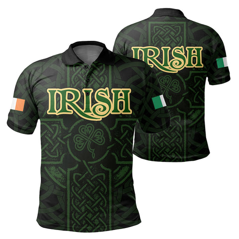 Ireland Men's Polo Shirt - Irish Celtic Cross | Clothing | 1sttheworld