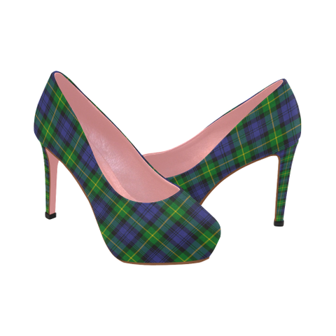 Image of Gordon Modern Tartan Heels - Women's Tartan High Heels Th8 |Footwear| 1sttheworld