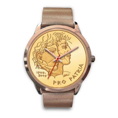 Swiss Coin Rose Gold Watch 5 - swiss watches, gold coins 2009, coin collecting, 100th anniversary of Pro Patria 2009, coin rose gold watches, switzerland, accessories, online shopping