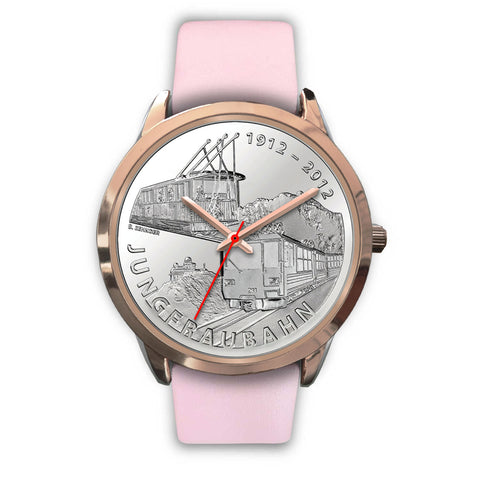 Swiss Coin Rose Gold Watch 7 - swiss watches, silver coins 2012, coin collecting, 100 years of Jungfrau Railway, coin rose gold watches, switzerland, accessories, online shopping