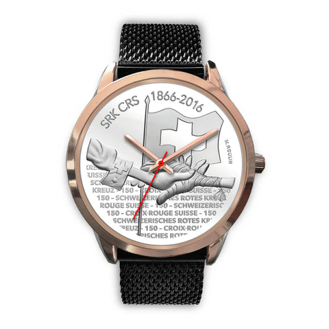 Swiss Coin Rose Gold Watch 8 - swiss watches, gold coins 2016, coin collecting, 150th Anniversary of the Swiss Red Cross, coin rose gold watches, switzerland, accessories, online shopping