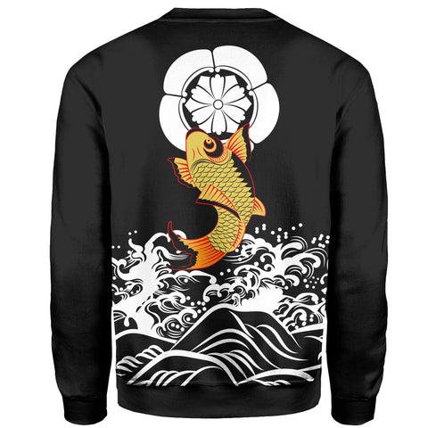 The Golden Koi Fish Sweatshirt A7
