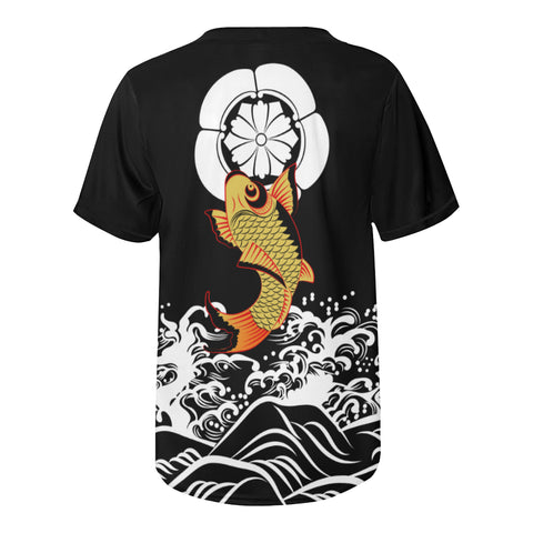 The Golden Koi Fish Baseball Jersey A7