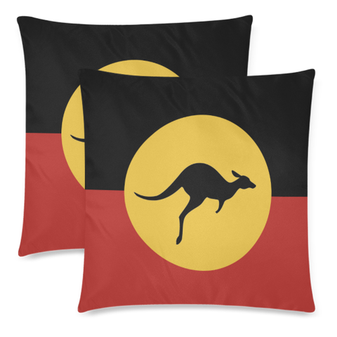 Image of Aboriginal Flag Pillow Covers NN6