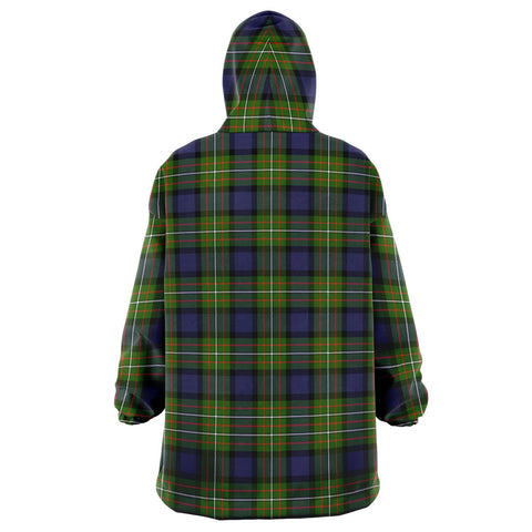 Image of Fergusson Modern Snug Hoodie - Unisex Tartan Plaid Back