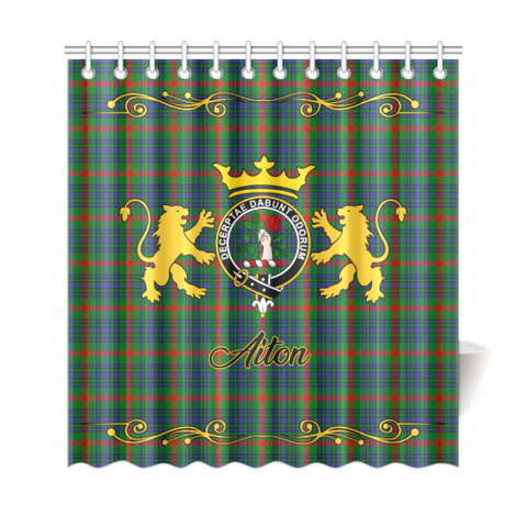 Tartan Shower Curtain - Aiton Clan | Scottish Home Set | Over 300 Clans