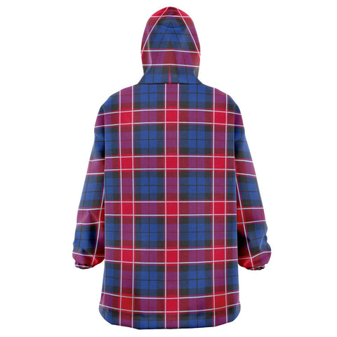 Image of Graham of Menteith Red Snug Hoodie - Unisex Tartan Plaid Back
