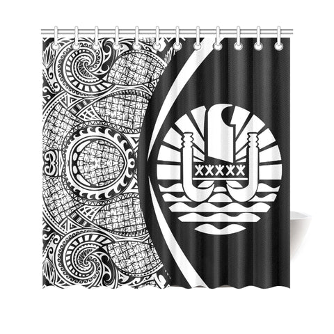 Tahiti Polynesian Shower Curtain - Circle Style