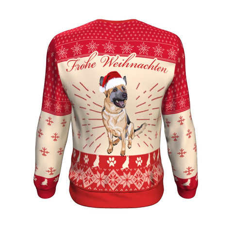 German Shepherd Christmas™ Sweatshirt Front For Men And Women