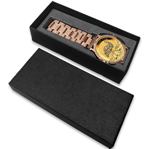 Image of Emu Coin Style Gold Steel Watch NN6
