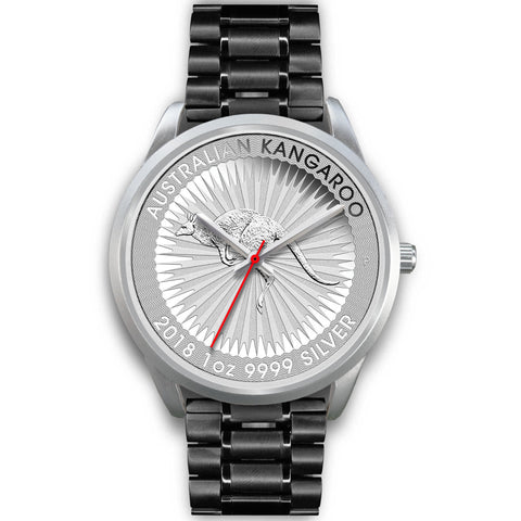 Image of Kangaroo Coin Style Silver Steel Watch NN6