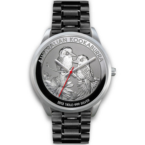 Image of Kookaburra Couple Coin Style Silver Steel Watch NN6