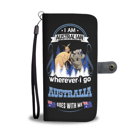 Wherever I Go Australia Goes With Me Wallet Phone Cases H4