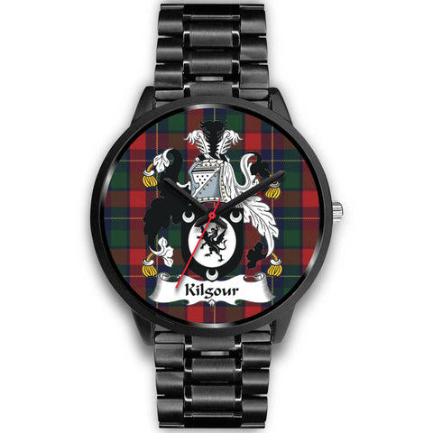 Kilgour Clan Badge Tartan Leather/Steel Watch - Bn |Men and Women| 1sttheworld