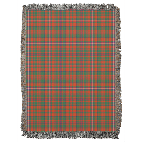 Image of MacKinnon Ancient , woven blanket, scotland blanket, scottish blankets,clan woven blanket, tartan woven blanket, tartan blanket, tartan throw sofa throw cover, tartan throw blanket