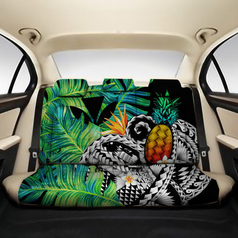 Kanaka Maoli (Hawaiian) Back Car Seat Covers - Polynesian Pineapple Banana Leaves A02