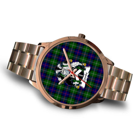 Combe Clan Badge Tartan Rose Gold Watch - BN
