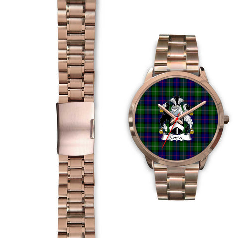 Image of Combe Clan Badge Tartan Rose Gold Watch - BN