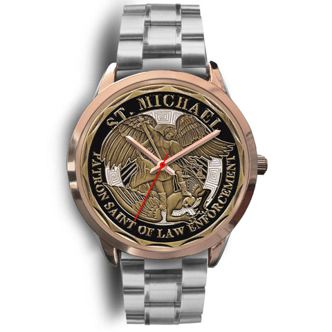 St Michael Patron Saint of Law Enforcement Challenge Coin Watch K4