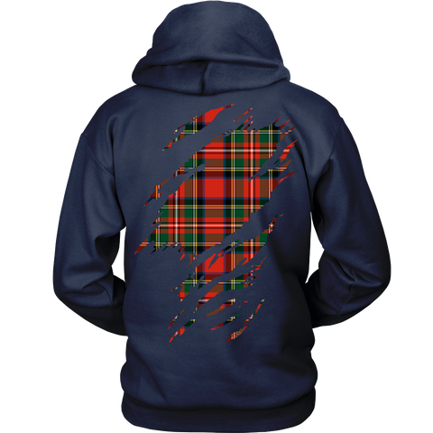 Image of Stewart Royal Tartan Shirt Or Tartan Hoodie In Me TH8