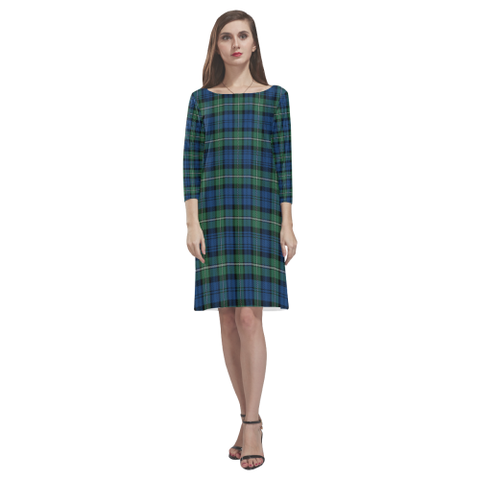 Forbes Ancient Tartan Dress - Rhea Loose Round Neck Dress NN5