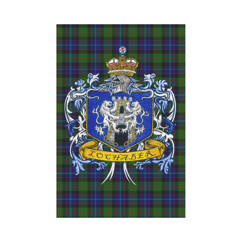 Image of Lochaber Tartan Flag Clan Badge K9 |Home Decor| 1sttheworld