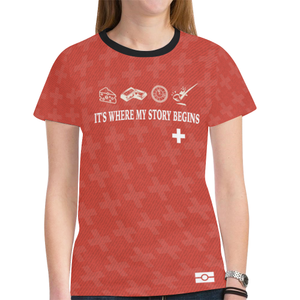 Switzerland Passport K4 New All Over Print T-shirt