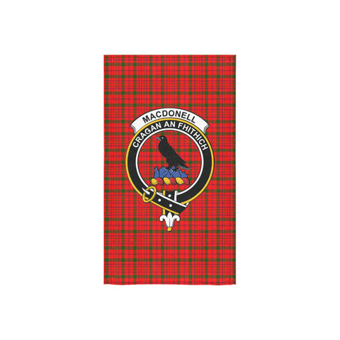 Image of MacDonnell of Keppoch Modern Tartan Towel Clan Badge NN5