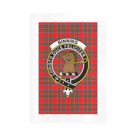 Binning (Of Wallifoord)  Clan Tartan Art Print A9