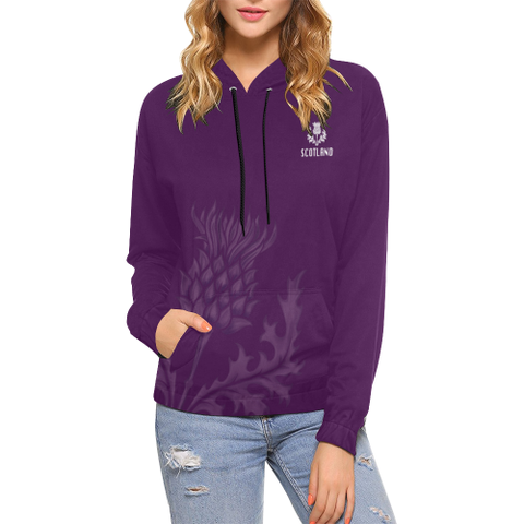 Scotland Hoodie - Unisex Purple Thistle | Hot Sale