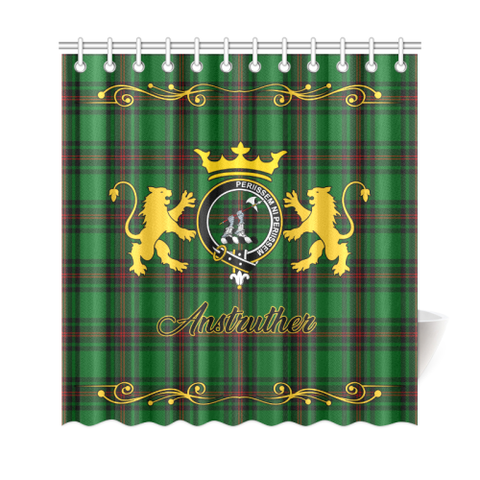 Tartan Shower Curtain - Anstruther Clan | Scottish Home Set | Over 300 Clans