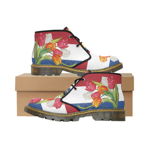 The Netherlands Tulips Nubuck Chukka Boots | HOT Sale