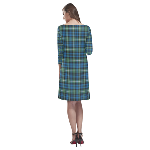 Lamont Ancient Tartan Dress - Rhea Loose Round Neck Dress - BN