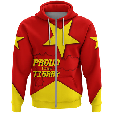 1stTheWorld Hoodie Zip - Proud To Be Tigray