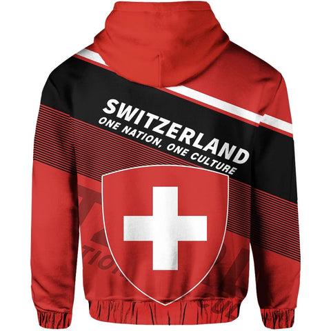 Switzerland Zip Hoodie Flag