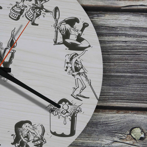 Image of Iceland Wooden Wall Clock - Icelandic Yule Lads - BN09
