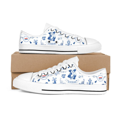 THE NETHERLANDS Symbols Low Top White Shoes A02