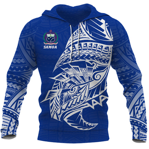 Samoa Tattoo Rugby Style Hoodie front