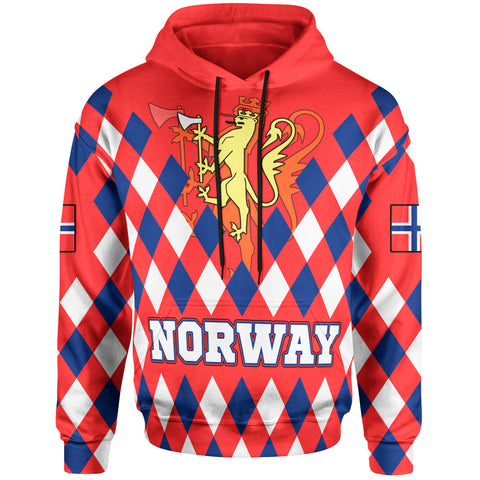 Norway Hoodie - Norway Lion with Flag Color