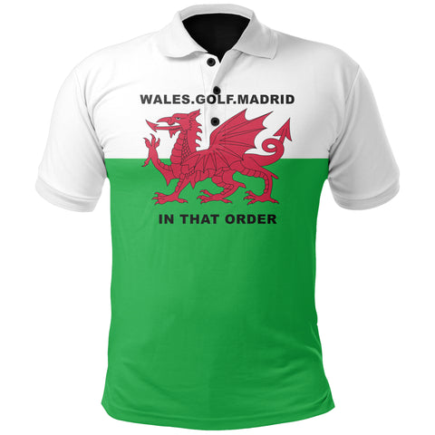 Wales Golf Madrid Polo T Shirt K2